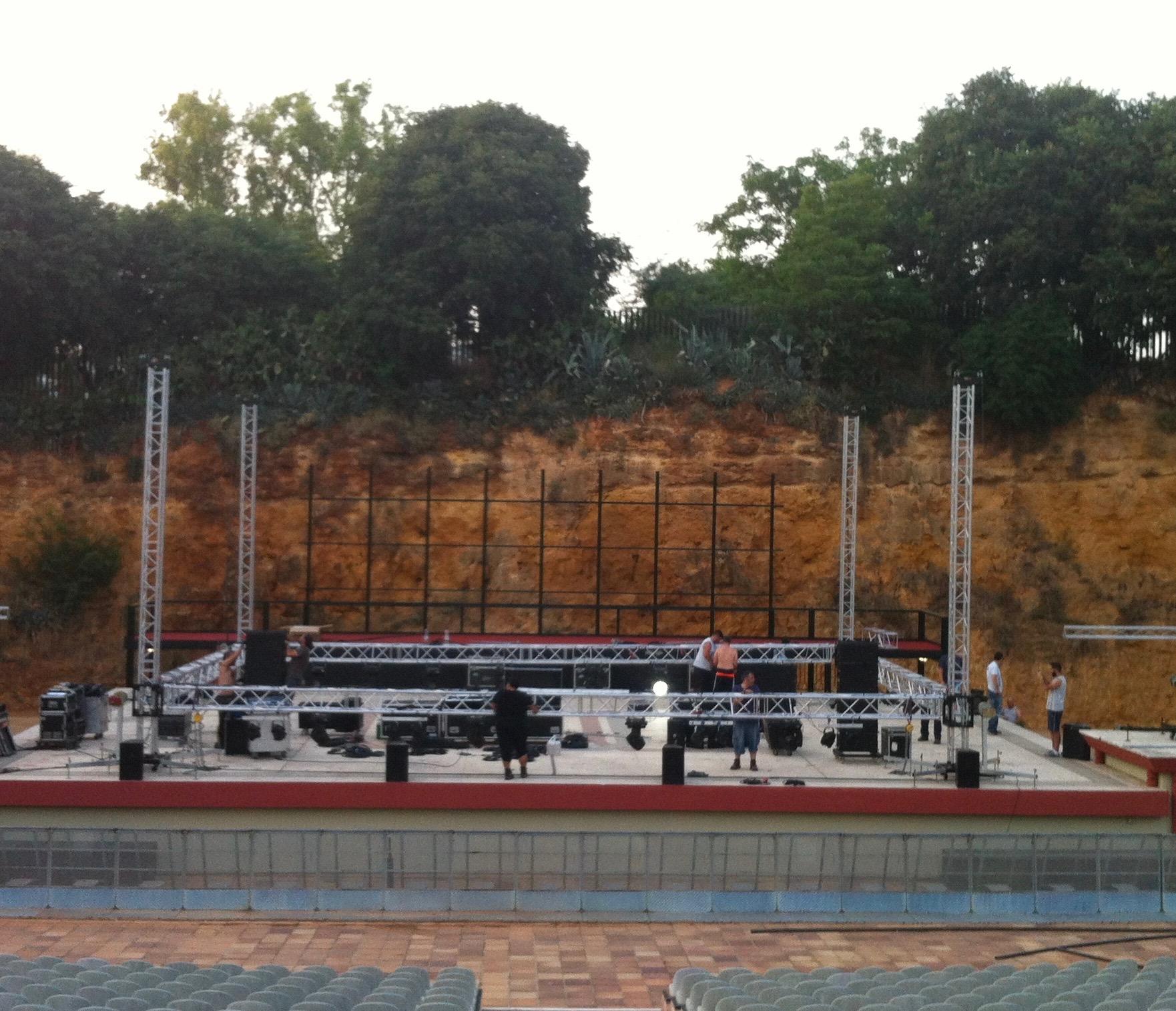 Montaje Auditorio Dos Hermanas (Sevilla)